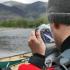 AQUAPAC funda estanca y sumergible para camara - 448 grande - en lago