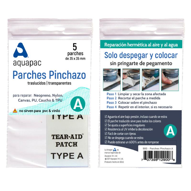 Enlace a Parches Pinchazo para lona, mayoría de las telas, goma, neopreno, nylon, fibra de vidrio, aluminio, polietileno, polpropileno, poliuretano, cuero