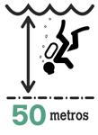profundidad maxima 50 metros